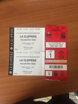 VIP Clippers vs. 76ers Suite Box tickets plus VIP Parking for Sale in Irvine, CA