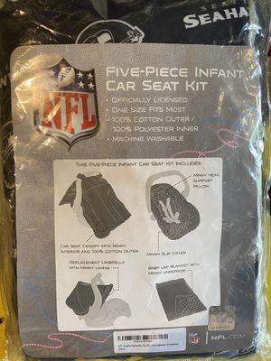 Seahawks five piece infant car seat kit. *New for Sale in Charlottesville, VA