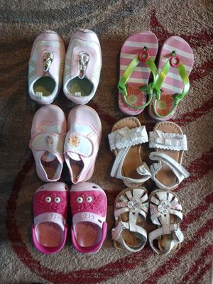 Lots and lots of kids shoes sizes 3 months to size 8 kids for Sale in Colorado Springs, CO