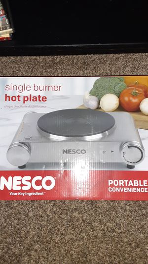 Single burner hot plate Nesco in box with owner manual. used literally once indoor outdoor for Sale in Tracy, CA