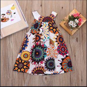 Summer toddler girl sleeveless flowers dress. for Sale in Homestead, FL