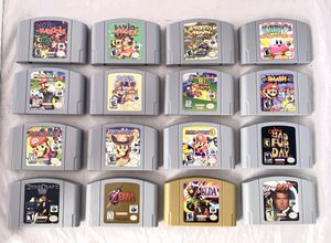 Nintendo 64 Games N64 Mario Zelda Super Smash Party Kart Pokemon for Sale in Lindon, UT