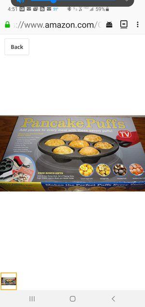Cast Iron Pancake Puffs Aebleskiver Pan for Sale in Auburn, WA