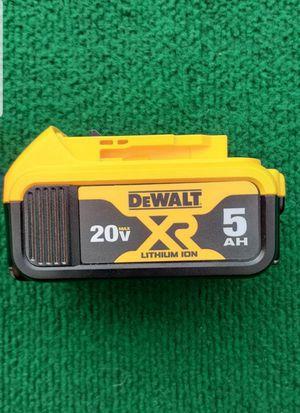 Dewalt 20 volt 5 amp battery price is firm Precio firme for Sale in El Monte, CA