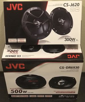 """New (2) JVC 6.5"""" inch AND (2) JVC 6x9"""" inch Car Audio Speakers Combo Package Set (4 speakers) 🔊🔥 for Sale in Hemet, CA"""