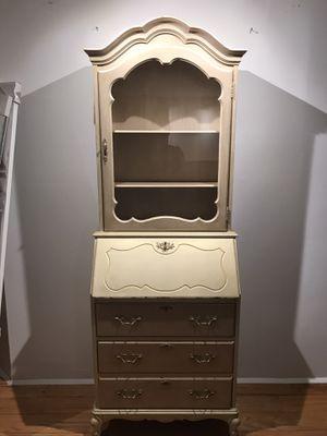 Antique desk cabinet in gold for Sale in Miami, FL