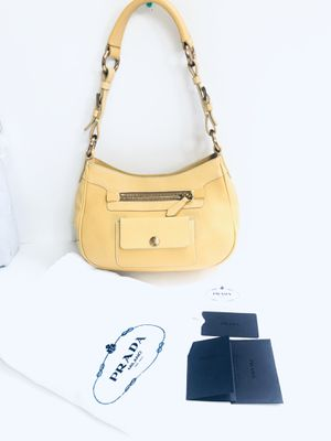 Prada Yellow Leather Over Shoulder Bag for Sale in Irvine, CA