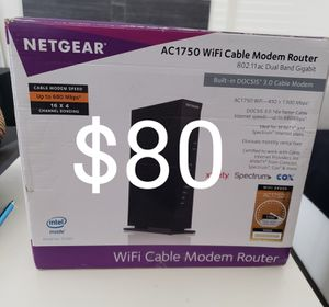 Wifi cable modem router for Sale in Ontario, CA