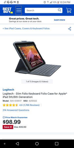 Logitech smart connection case keyboard for apple tables for Sale in North Bay Village, FL