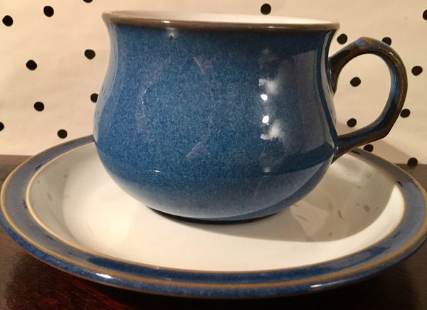 Denby England coffee mug and saucer plate