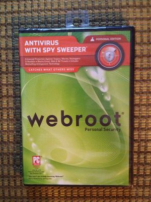 Webroot Antivirus With Spy Sweeper Personal Edition 2010 for Sale in Stockbridge, GA