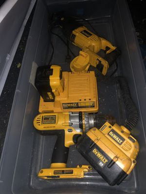 36 volt DeWalt skill saw, impact drill, battery charger, & a light for Sale in Bossier City, LA