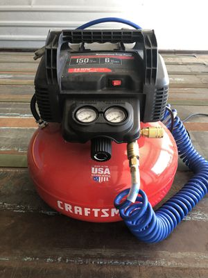 6 gallon compressor and shop fan for Sale in Cypress, TX