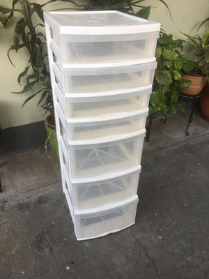 Seven drawer plastic storage for Sale in Los Angeles, CA
