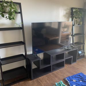 Crate And Barrell Media Stand and Bookshelves for Sale in Los Angeles, CA