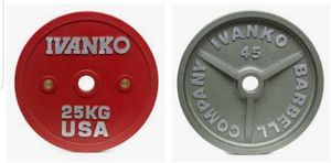 IVANKO BARBELL CO. OLYMPIC 25 KG (55 lb Hammertone Style): New/Boxed, $110 Each for Sale in Phoenix, AZ