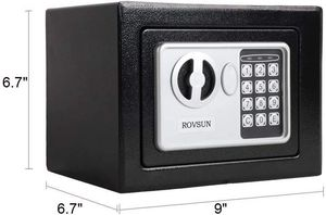 ROVSUN 0.17 Cubic foot Electronic Security Safe Box, Mini Portable Digital Cabinet with Keypad Lock & Solid Steel for Sale in Costa Mesa, CA