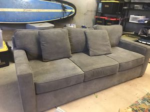 Grey couch bought from Macy's 2 years ago. High quality, minimal wear. No stains or rips. for Sale in Bend, OR