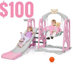 4-in-1 play set Slide, swing, basketball and climbing. for Sale in Baldwin Park,  CA