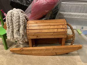 Kid wooden toy rocking horse for Sale in Fairfax, VA