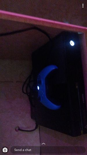 Xbox One With Games(digital) and Blue Controller for Sale in Worcester, MA