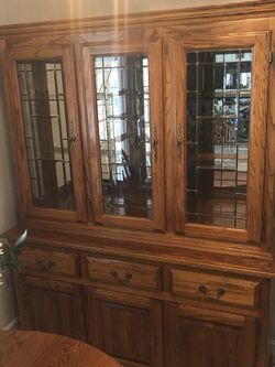 Oak China Cabinet/hutch with Lots Of Storage for Sale in Palm Harbor,  FL