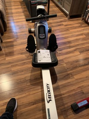 Velocity Rower w/magnetic system and electronic readout - like new for Sale in Alexandria, VA