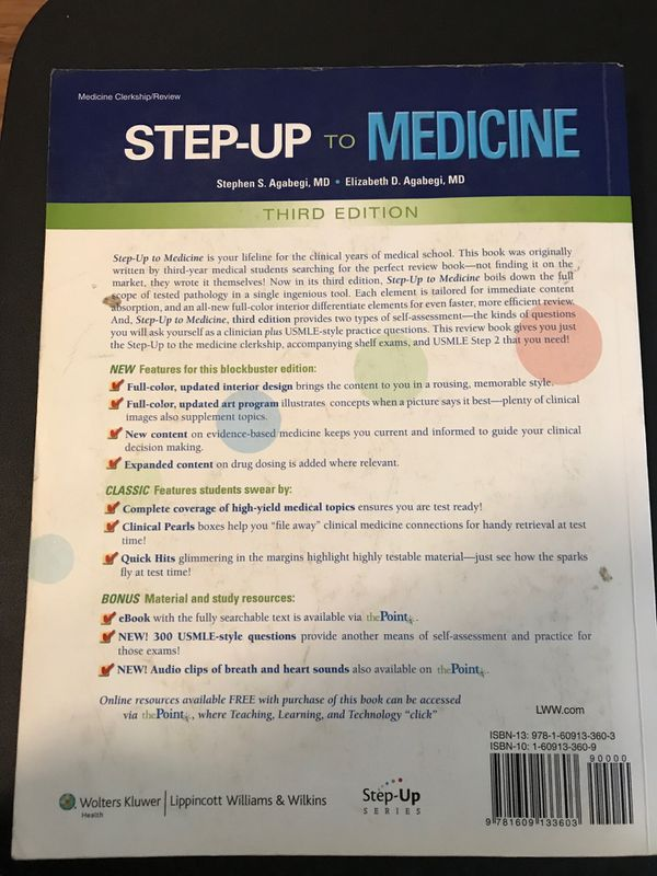 STEP UP TO MEDICINE 3rd EDITION for Sale in Los Angeles, CA - OfferUp