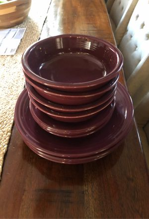 Fiesta plate sets for 4 for Sale in Millville, NJ