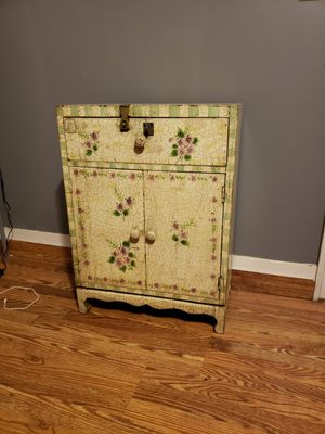 small antique cabinet with draw and shelves 30$ delivery offered for Sale in Lincoln, RI