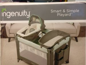 Ingenuity Smart and Simple Packable Portable Playard with Changing Table - Ridgedale for Sale in Weston, FL