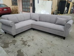 NEW 7X9FT ANNAPOLIS LIGHT GREY FABRIC SECTIONAL COUCHES for Sale in Lake Elsinore, CA