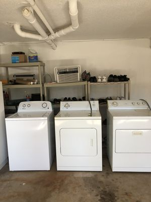 Washer and dryer's the washer is like brand new they are all in perfect condition $350 for all three for Sale in Waterbury, CT