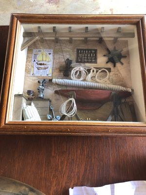 "Nautical SHADOW BOX wall hanging. 13-1/2"" C 11-3/4"" for Sale in La Mirada, CA"