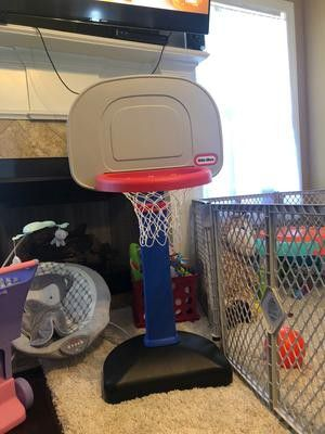 Basketball Set Easy Score Small Ball Hoop Adjustable Height Kids Children Indoor Outdoor Sports Fun for Sale in Miami, FL