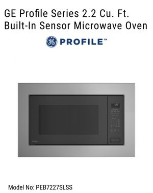 GE Profile Microwave and Trim Kit for Sale in Concord, CA