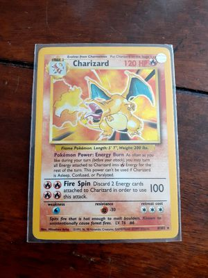 New in mint condition pokemon card hologram collection charizard for Sale in City of Industry, CA