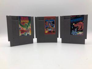 Nintendo NES | 3 games dragon warrior tag team wrestling dinowarz and dragon warrior for Sale in Los Angeles, CA