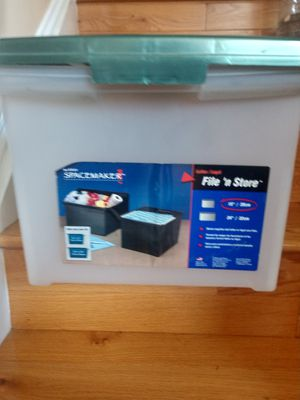 Space maker filing storage tote for Sale in Burtonsville, MD