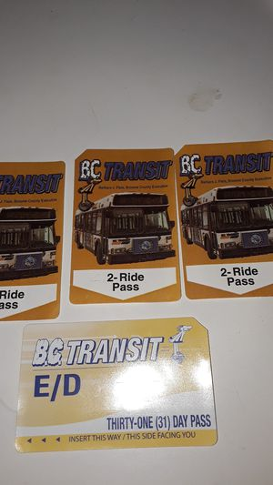 Bus passes bc transit in broome county for Sale in Ithaca, NY