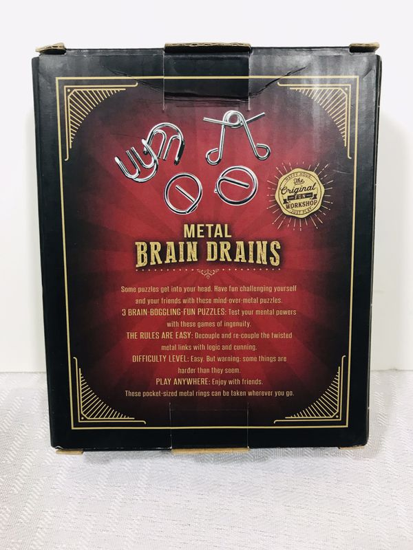 CVS 3-pcs Metal Brain Drains Wire Puzzle Test Mind Logic Game