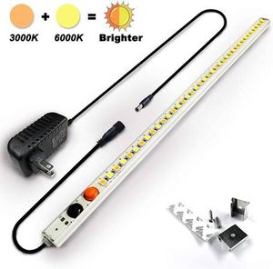 Under Kitchen Cabinet Counter Desk LED Light Bar 12V, 3000K Warm White + 6000K Cool Daylight White (2 Colors Mode), 15inch Waterproof Plug in Under C for Sale in Pomona, CA