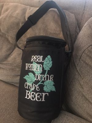 Growler cooler with strap for Sale in Southington, CT