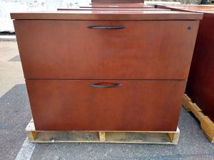 (12) 2-DRAWER KIMBALL OFFICE WOOD LATERAL FILE CABINETS EXECUTIVE DRESSER NIGHTSTAND FARM HOUSE SOLID WOOD QUALITY COMMERCIAL INDUSTRIAL for Sale in La Mesa, CA
