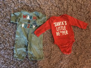 Christmas onesie & bodysuit 3-6 months for Sale in St. Cloud, FL