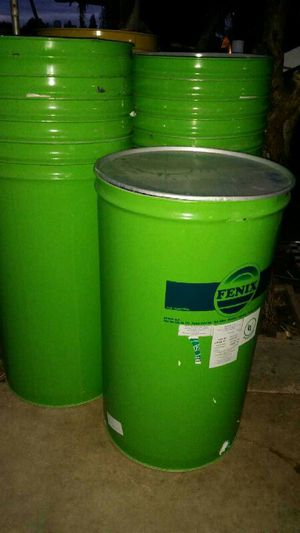 55 gallon skinny barrels metal drums food grade for Sale in Sanger, CA