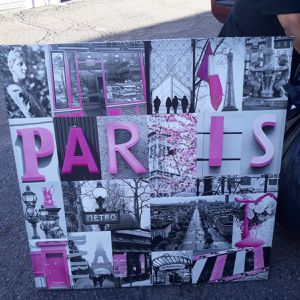Huge Paris Hot Pink, white and Black picture great wall decor for Sale in Phoenix, AZ