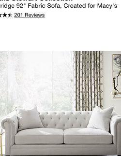 White Velvet Couch for Sale in Phoenix,  AZ