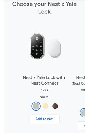Nest x Yale lock for Sale in Bremerton, WA