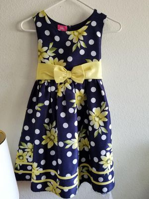 Girl's Dress - Blue Yellow Flowers Ribbon Summer for Sale in Santa Ana, CA